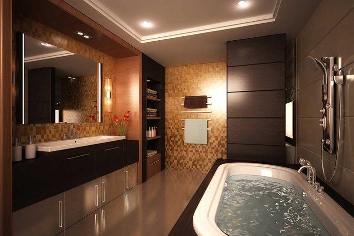 ديكورات الحمامات