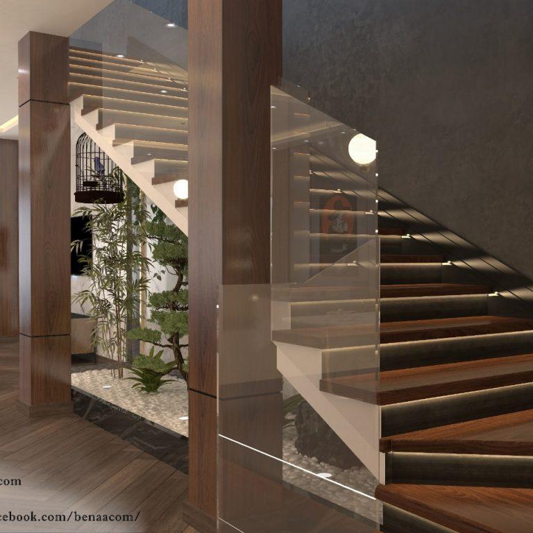 ديكورات الدرج الداخلي في المنزل